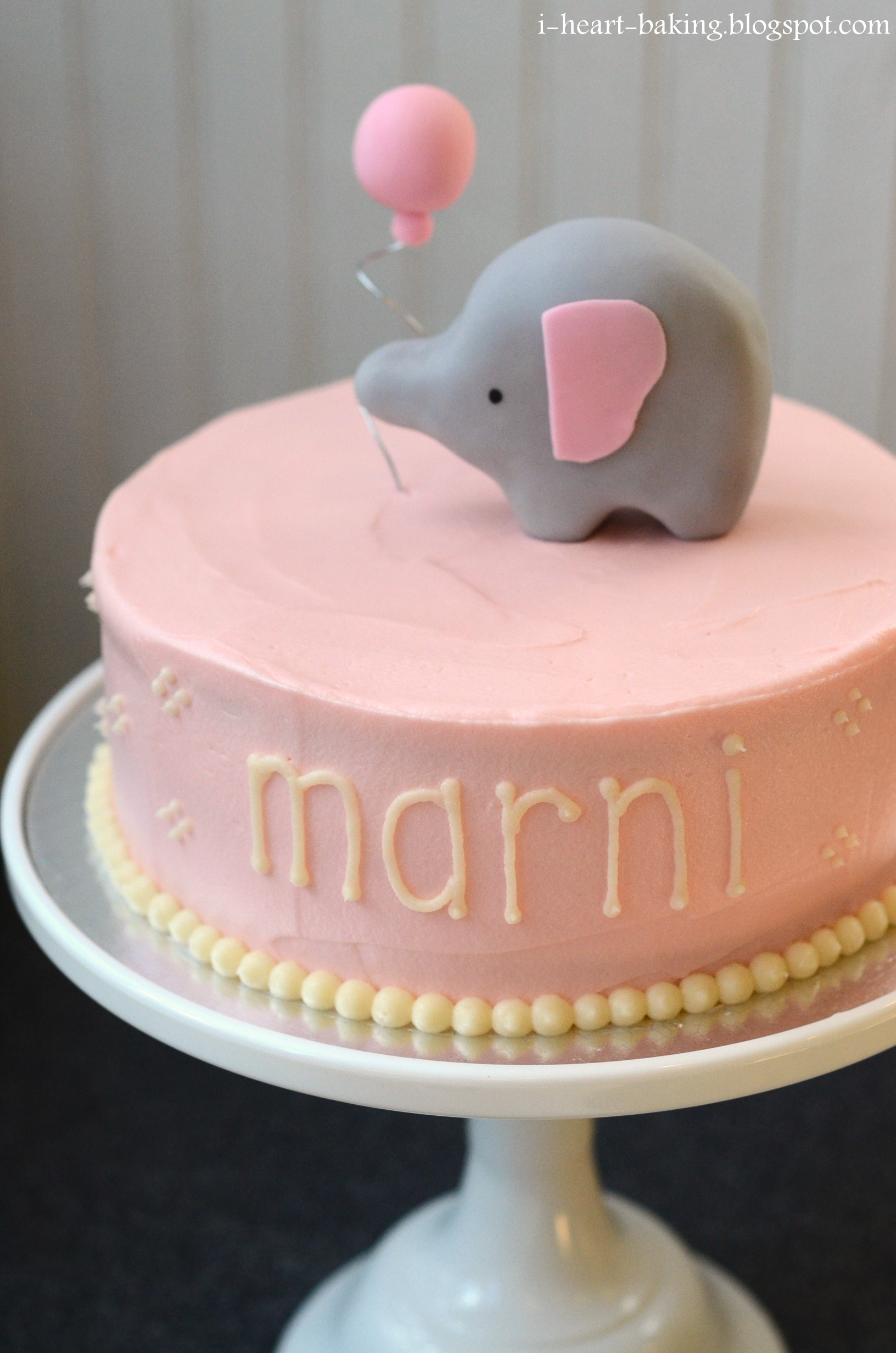 Elephant Baby Shower Cake   Vanilla Cake Filled With Fresh Strawberries And  Whipped Cream