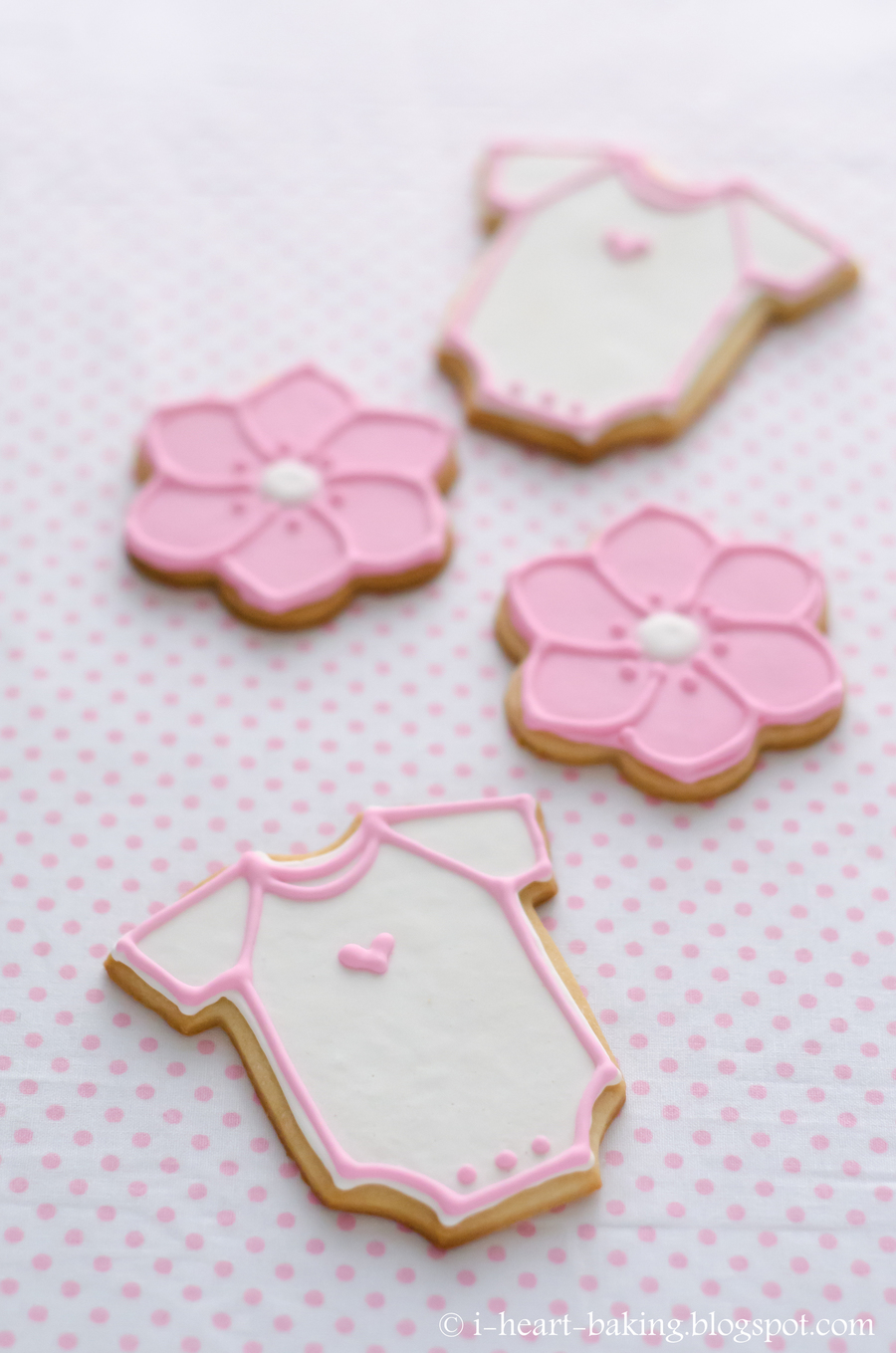 Pink Flower And Onesie Baby Shower Cookie Favors Cakecentral