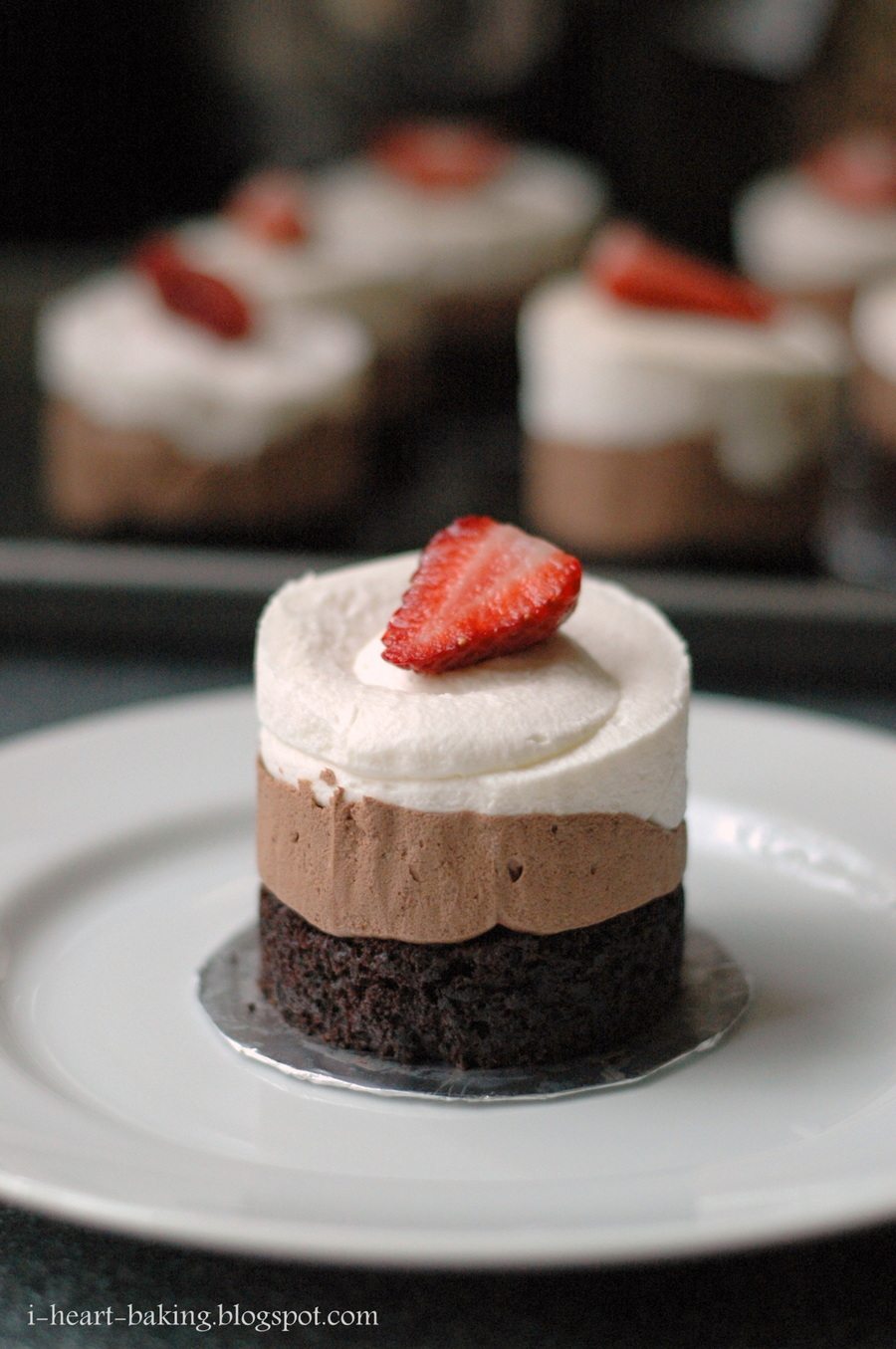 Triple Chocolate Mousse Cakes - CakeCentral.com