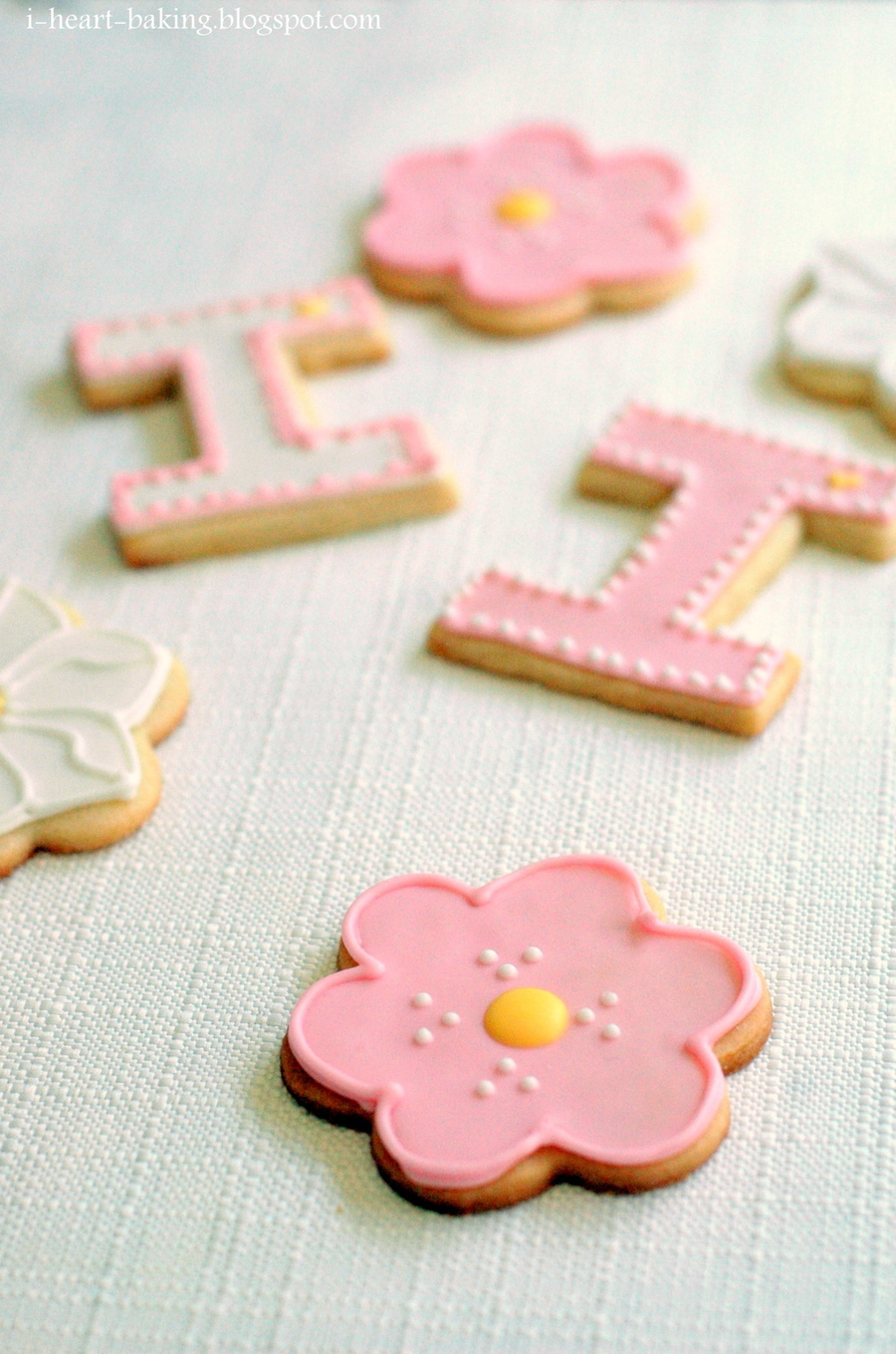 Flower Cookies And Letter I Cookies Cakecentral