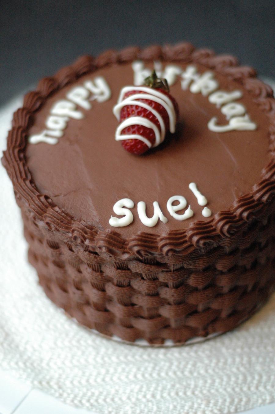 Boston Cream Pie Inspired Birthday Cake