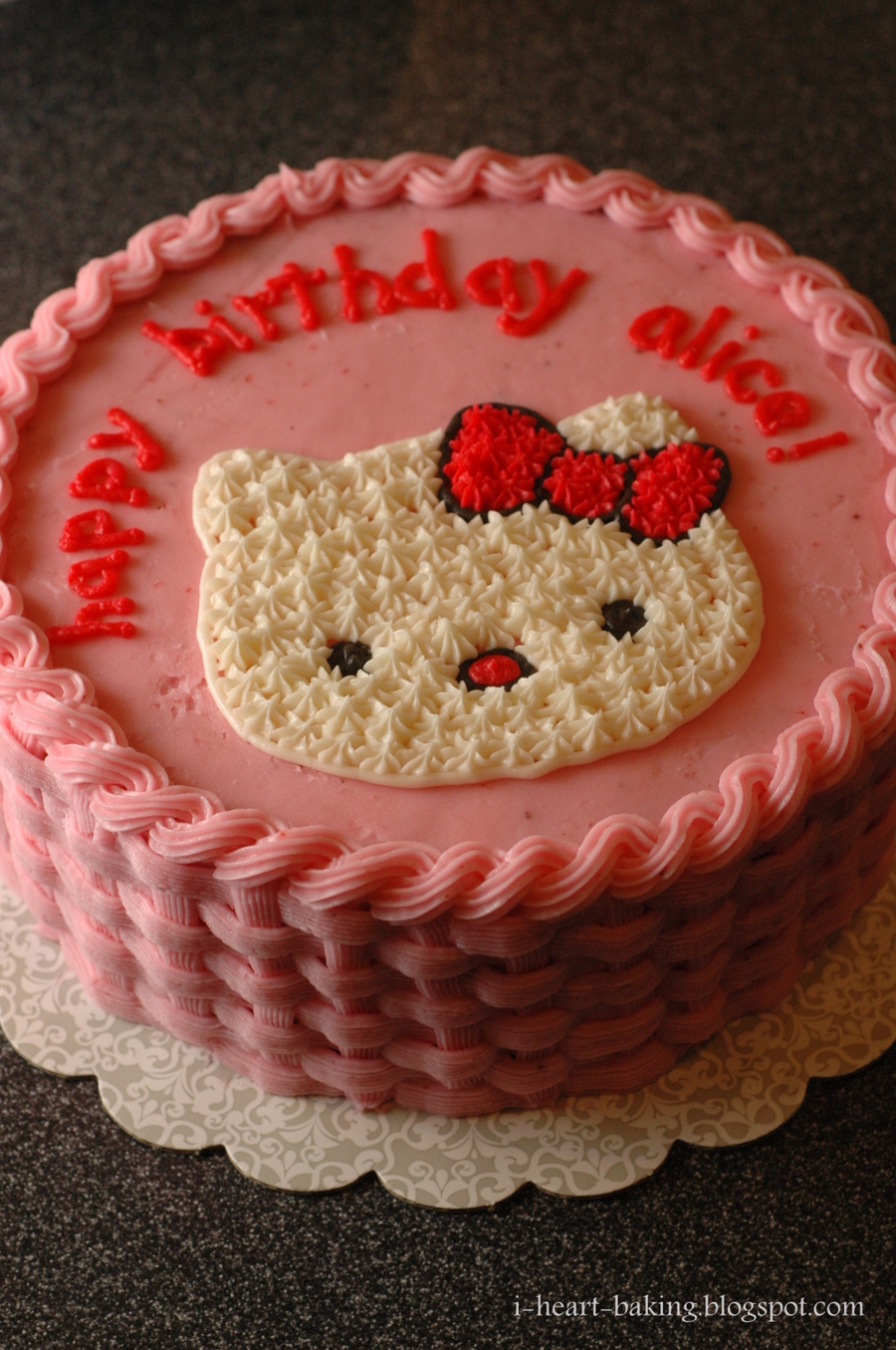 Cake Hello Kitty Pink : Pink Hello Kitty Cake - CakeCentral.com
