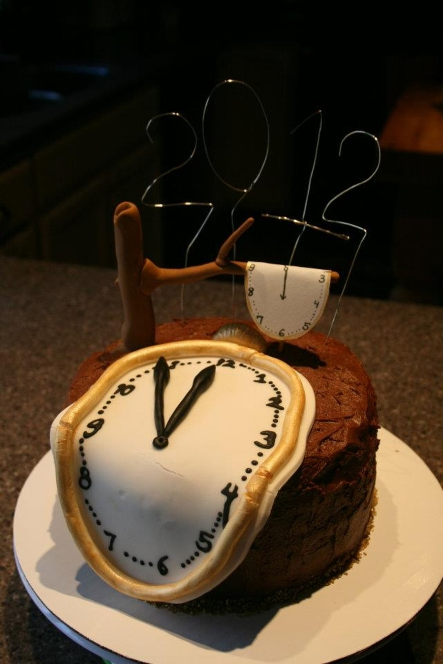 New Year S Eve Dali Esque Cake Cakecentral Com