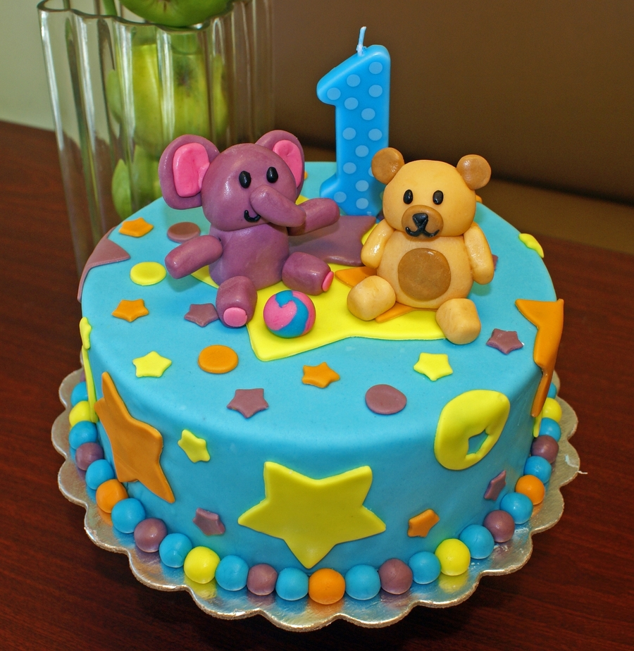 Elephant St Birthday Cake