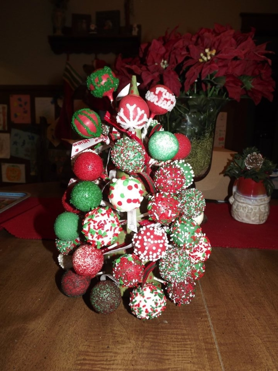 Christmas Cake Pop Tree on Cake Central