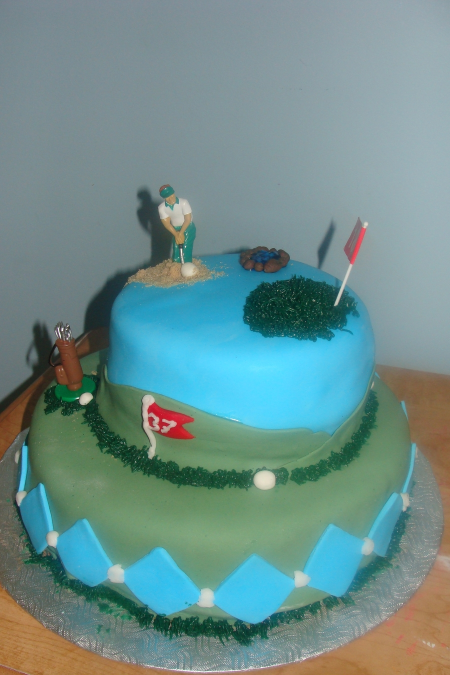 Stephane's Golf Cake on Cake Central