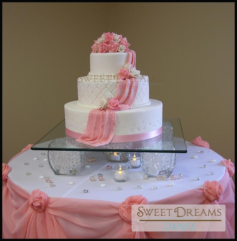 Simple Wedding Cake. on Cake Central
