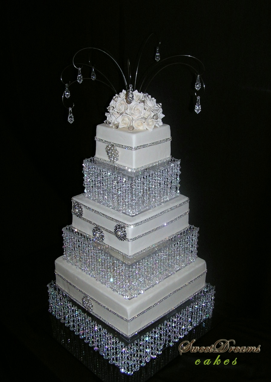Bling Wedding Cake on Cake Central