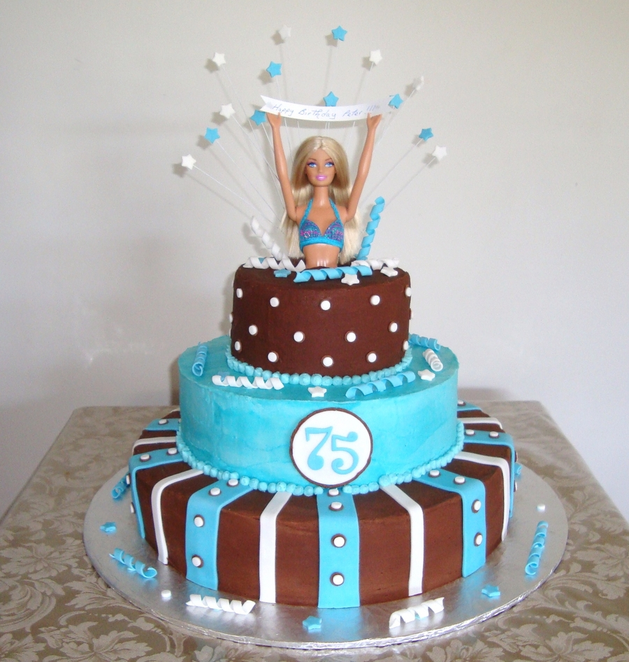 Barbie Jumping Out Of A Cake