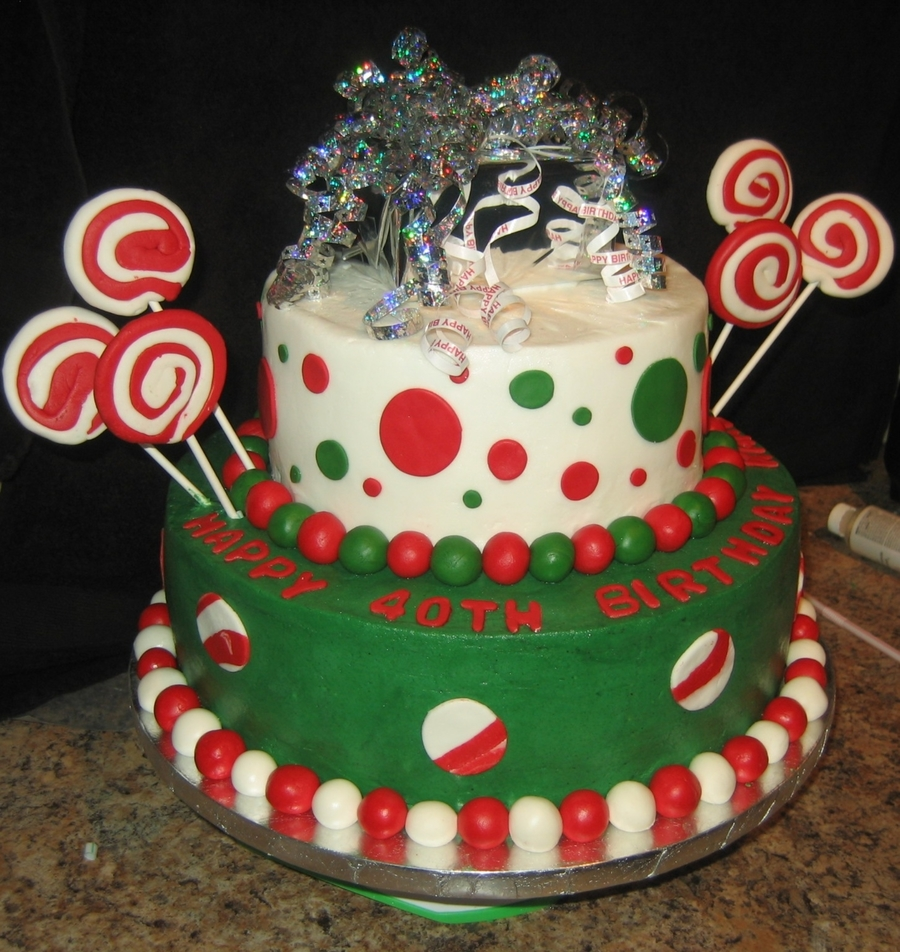 Chistmas Birthday Cake on Cake Central
