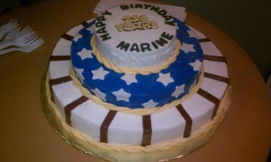 Excellent Marine Corps Birthday Cake Cakecentral Com Birthday Cards Printable Trancafe Filternl