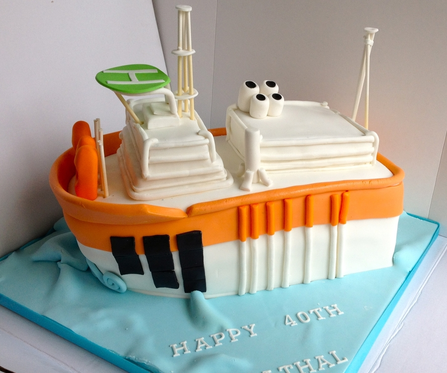 Oil Rig Ship Cake on Cake Central
