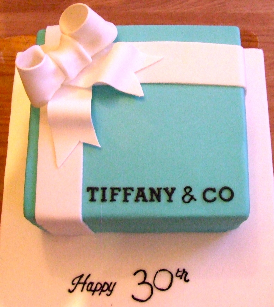 Tiffany Gift Box on Cake Central