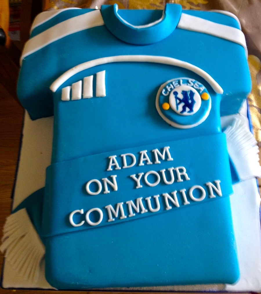 Chelsea Football Communion Cake on Cake Central