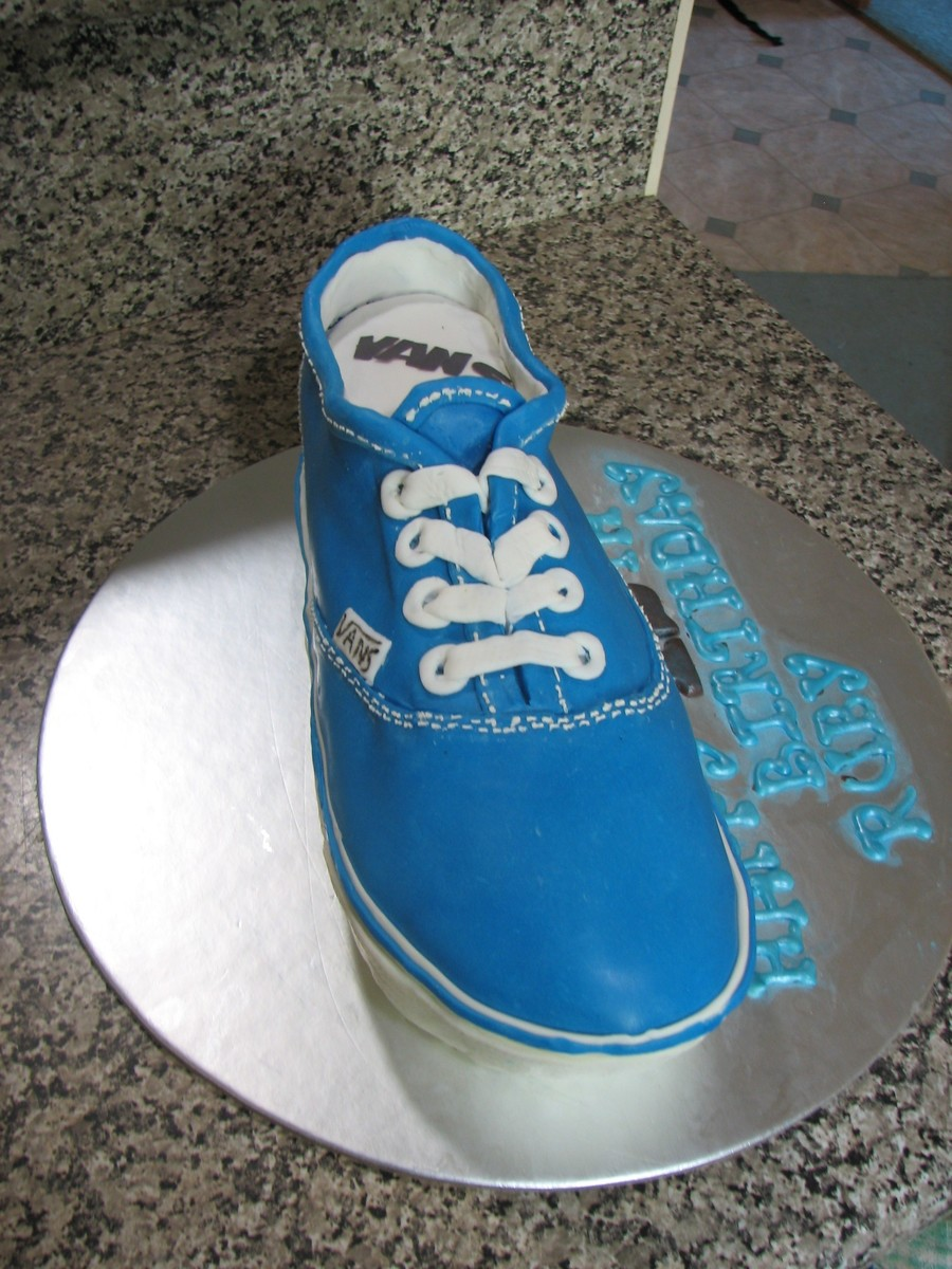 My Second Van Shoe This Time Blue  on Cake Central