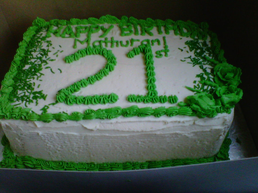 21St Birthday Cake On Central For 21 Year Old