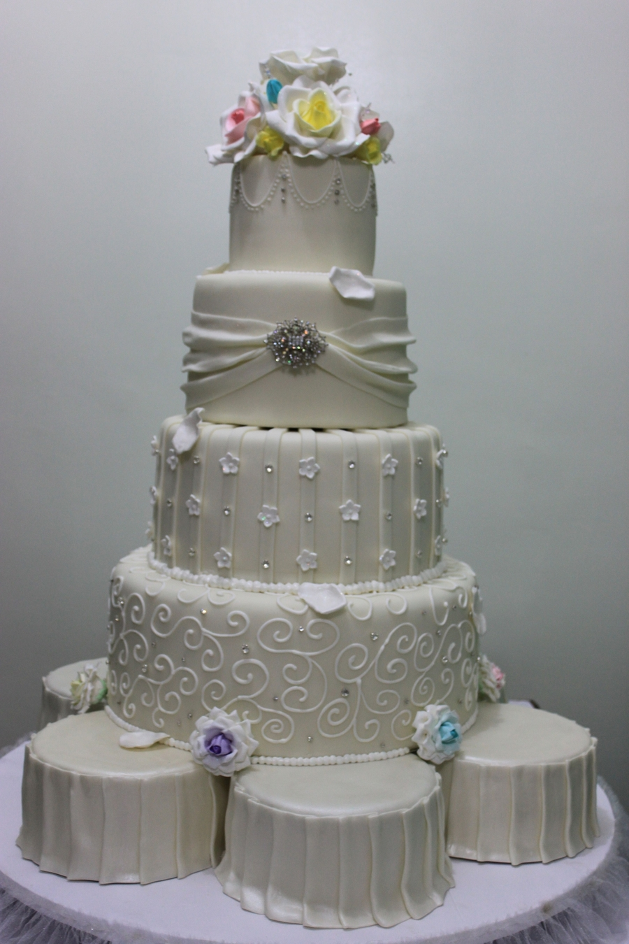 Romantic Wedding Cake on Cake Central
