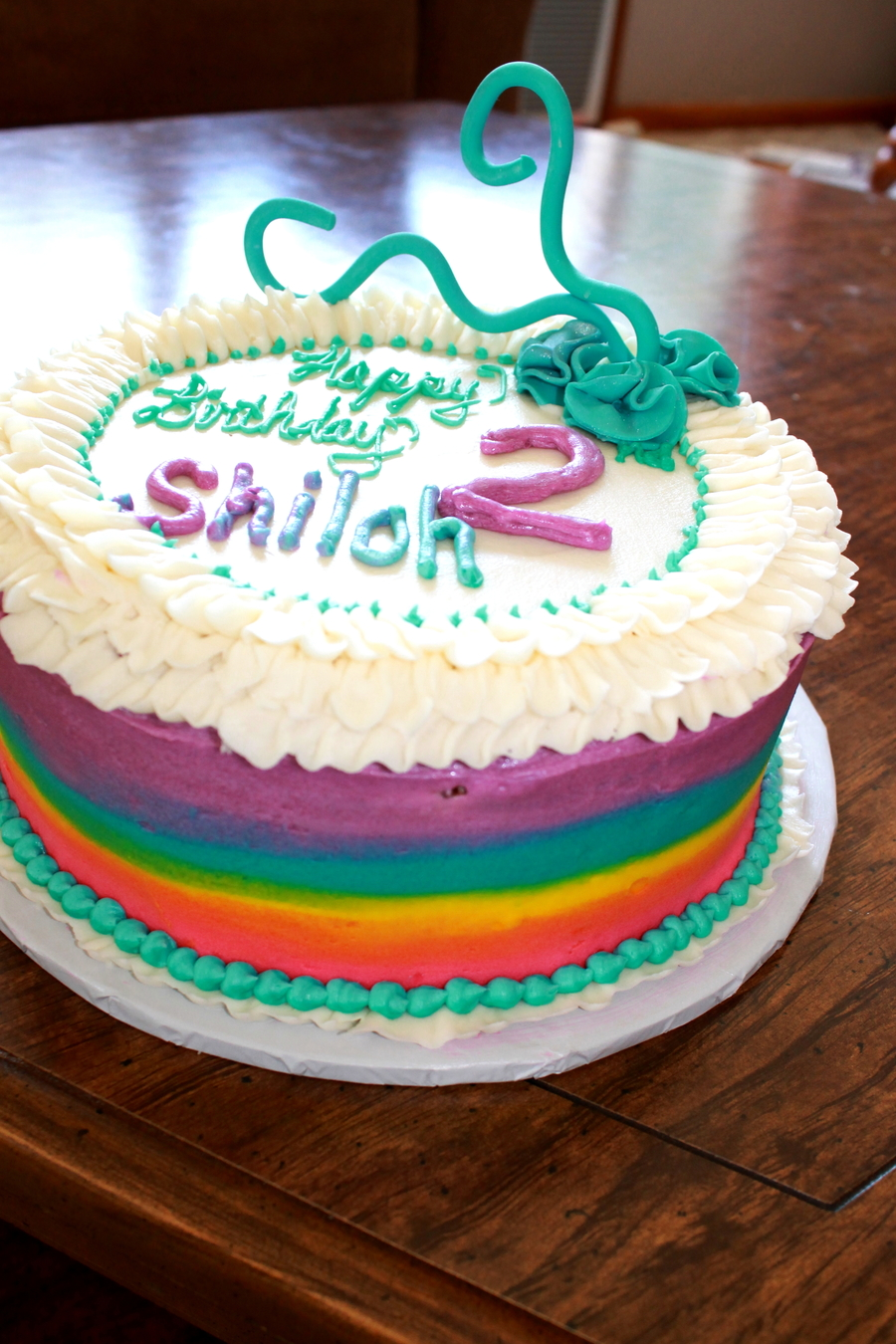 Terrific Rainbow Cake Buttercream Cake Birthday Cake Ruffle Cake Rainbow Personalised Birthday Cards Arneslily Jamesorg
