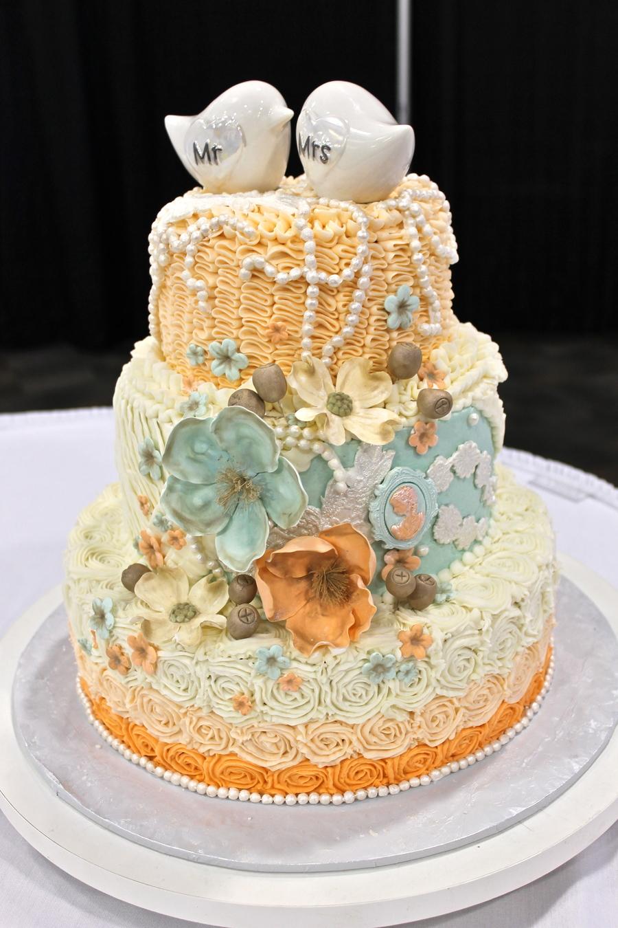 Shabby Rose Birthday Cake