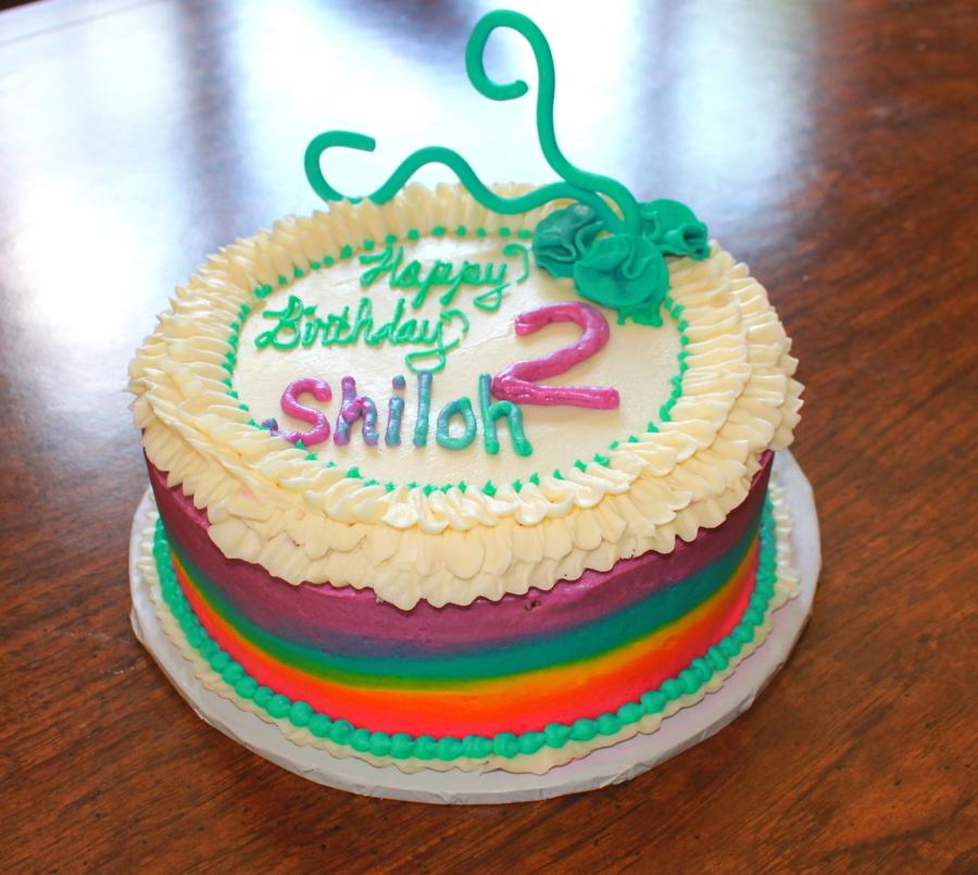 Birthday Cake Rainbow Cake 2Nd Birthday Ruffle Cake ...