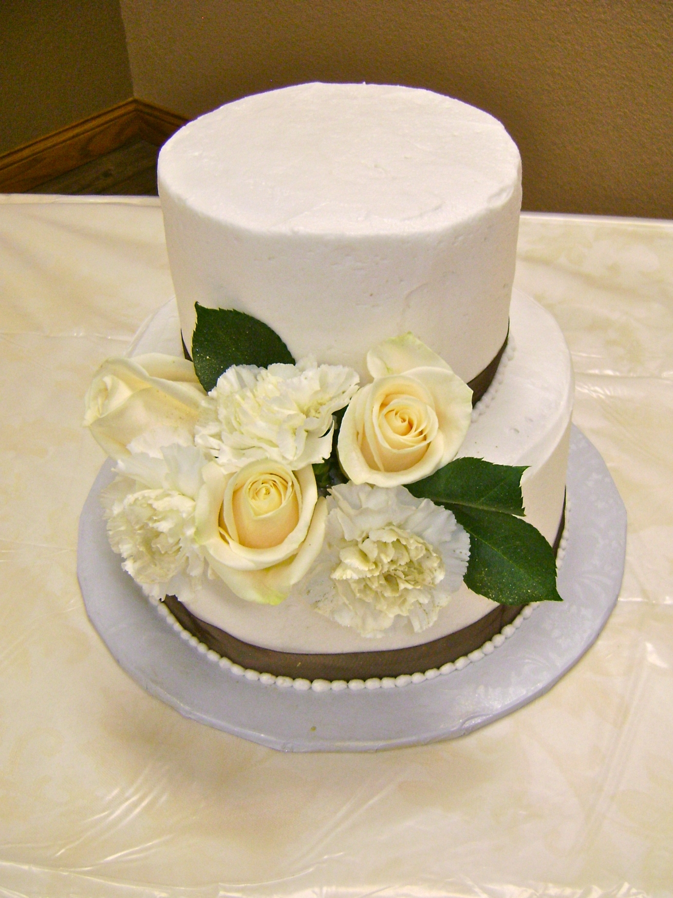 Zebra Bow Gum Paste Flowers Lacework Round Wedding Cake ...