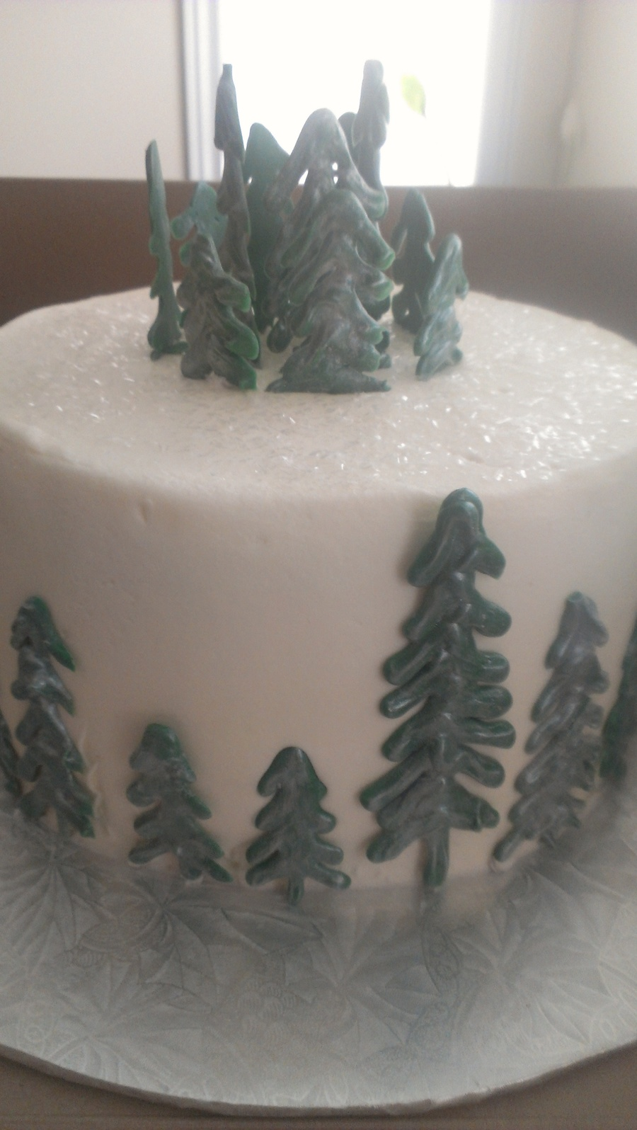 Butter Cream Icing With Chocolate Trees on Cake Central
