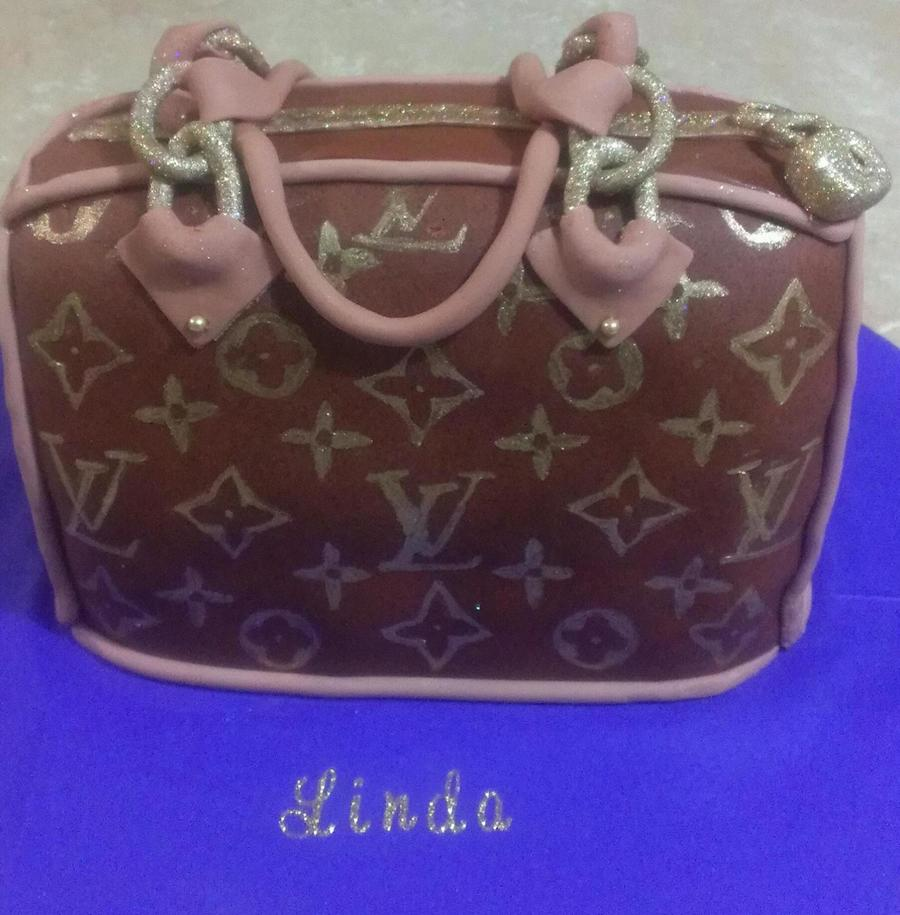 Louis Vuitton Purse Chocolate Fondant Hand Painted Logo on Cake Central