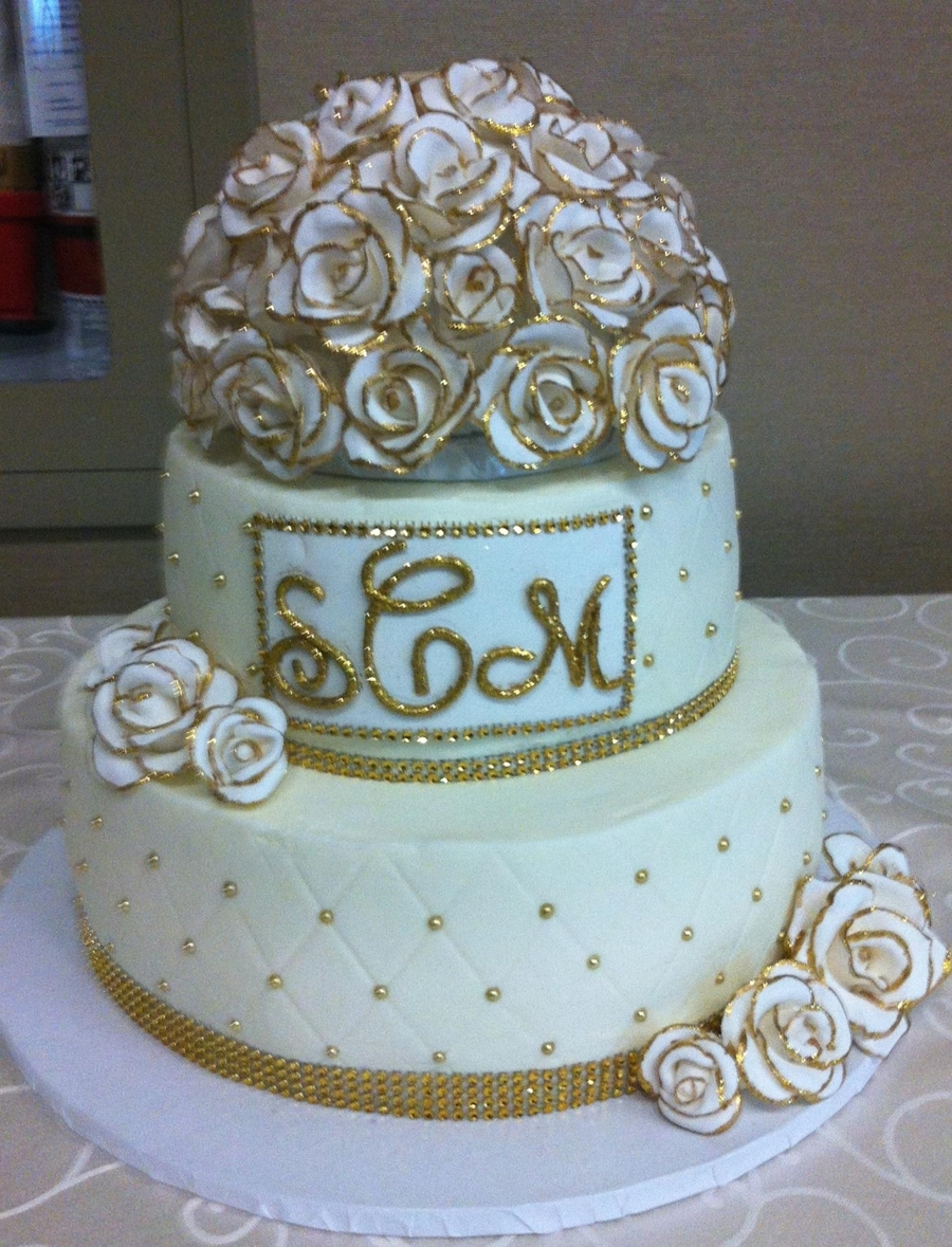 My First Weddng Cake on Cake Central