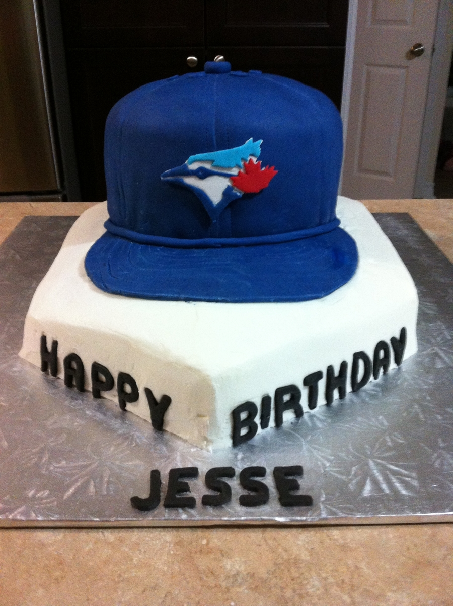 Blue Jay Baseball Cap CakeCentralcom