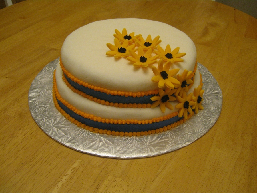 Flowers And Ribbons Cake on Cake Central