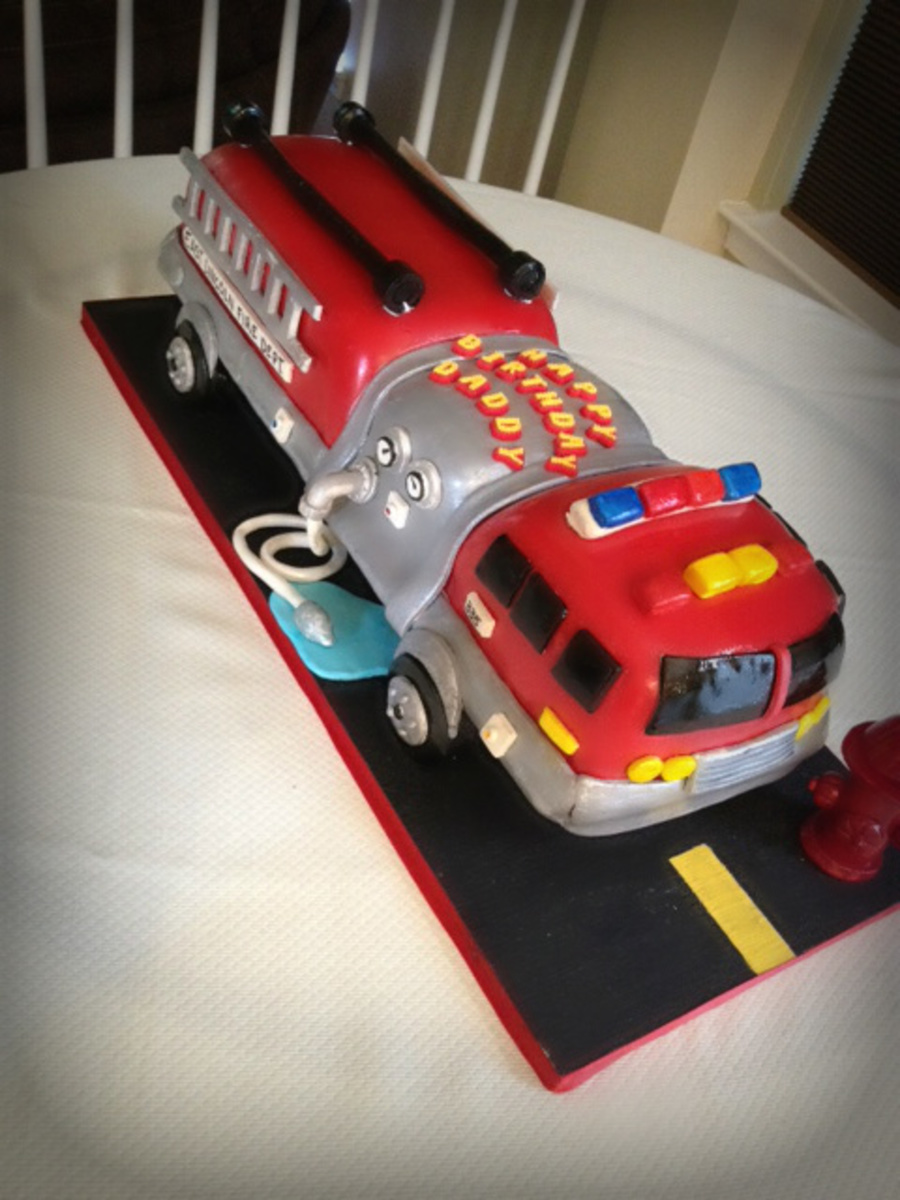 S Birthday Cake With Fire Truck