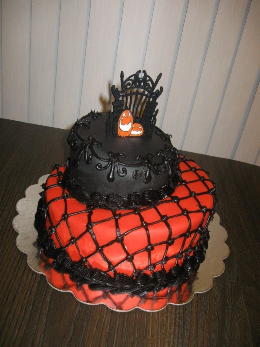 Orange & Black Night on Cake Central