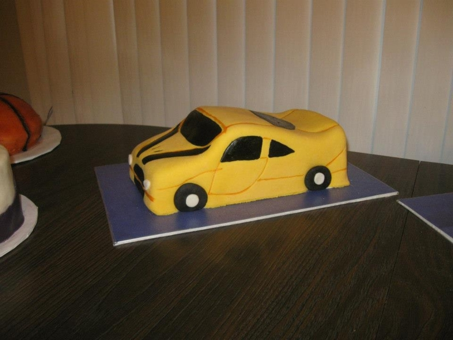 Yellow Sports on Cake Central