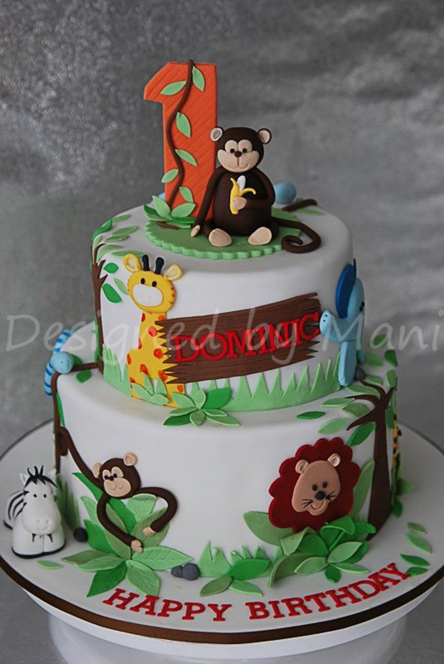 Jungle Themed St Birthday Cake