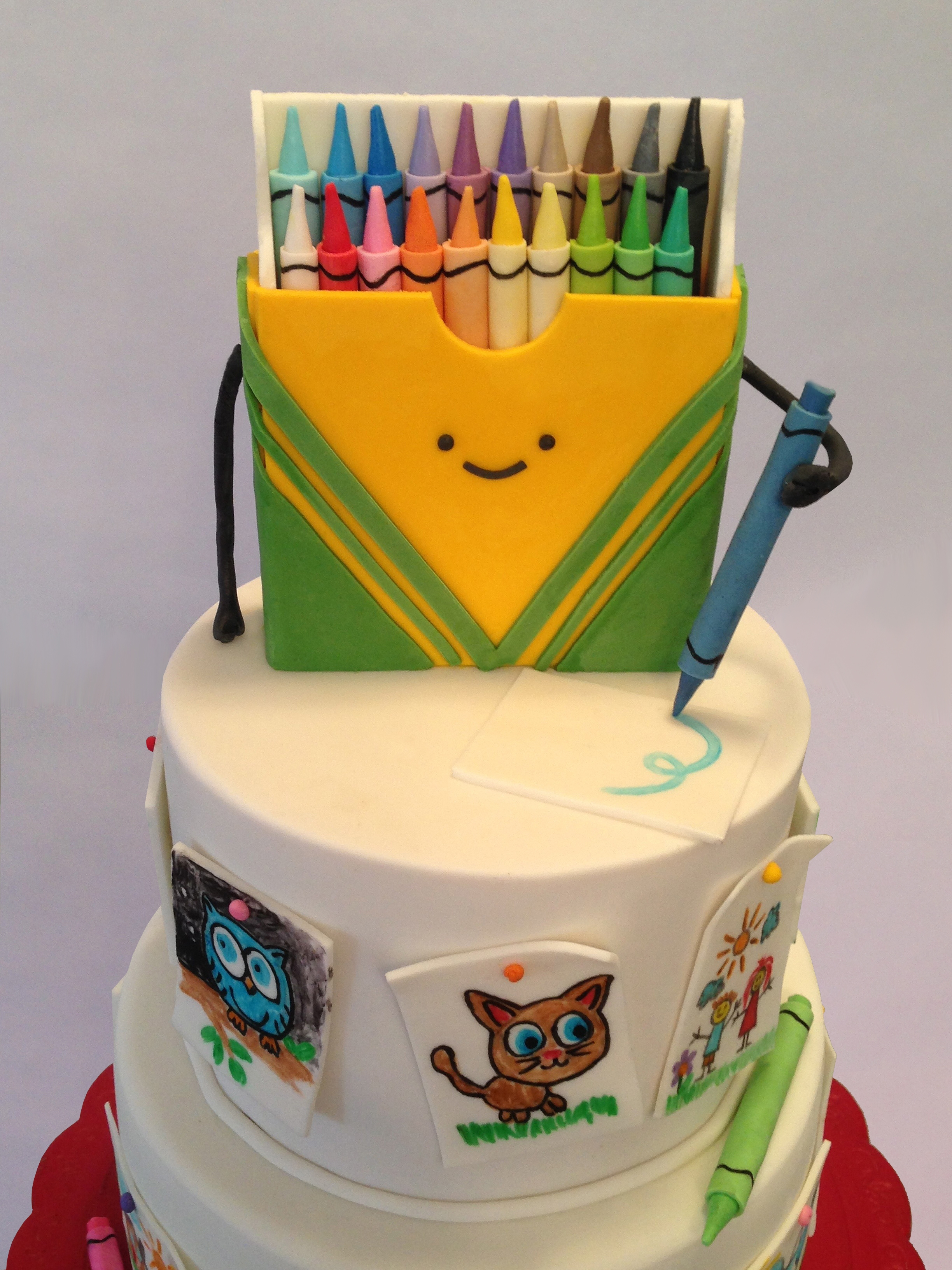 Crayon birthday cake