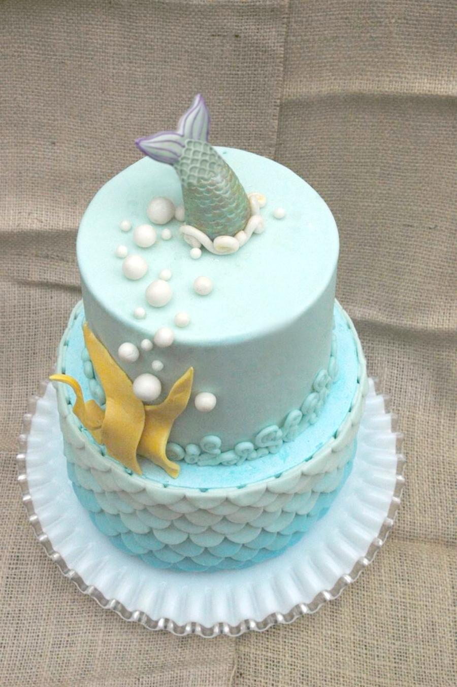 Blue Ombre Cake Recipe