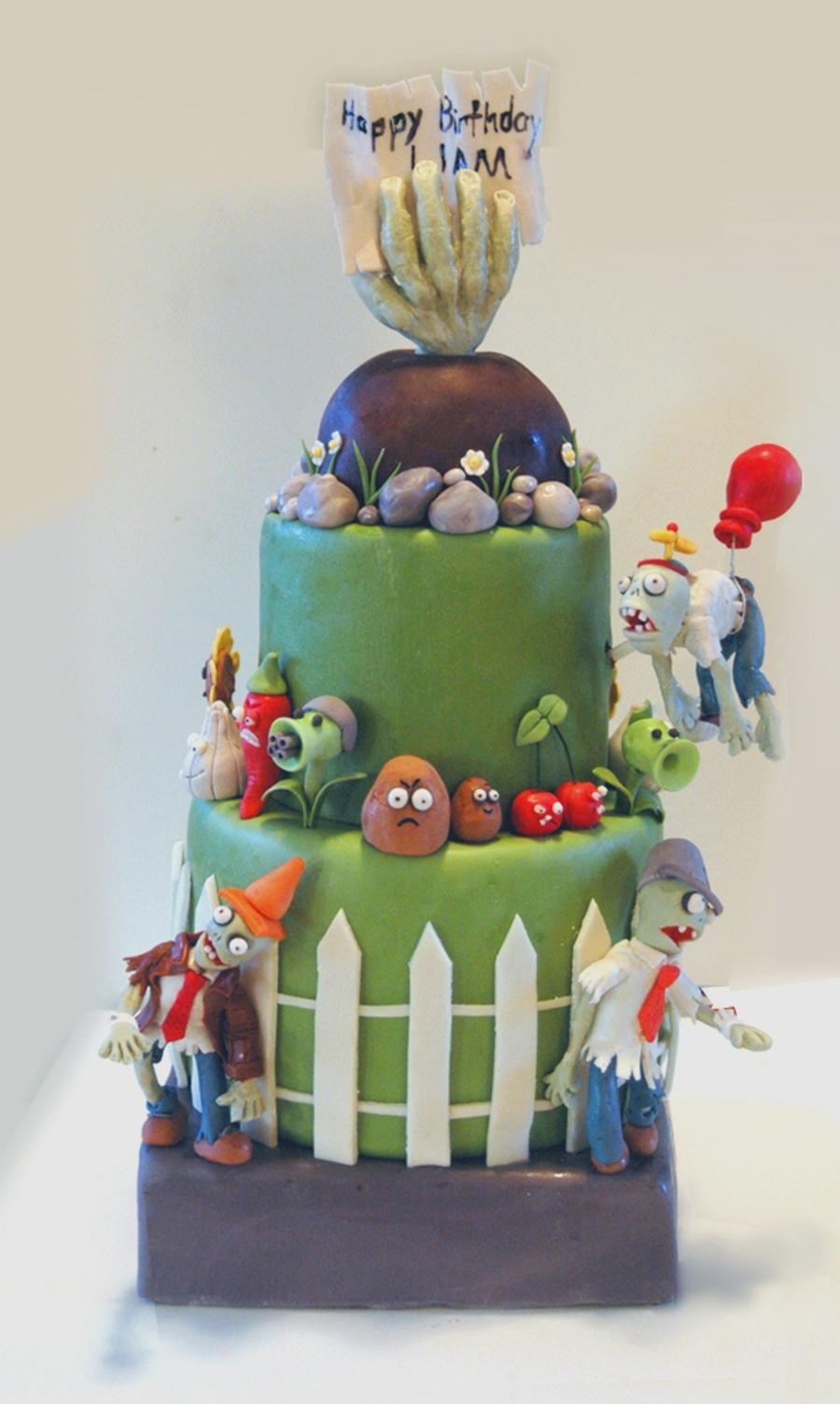 Plants Vs Zombies Birthday Cake Cakecentral Com