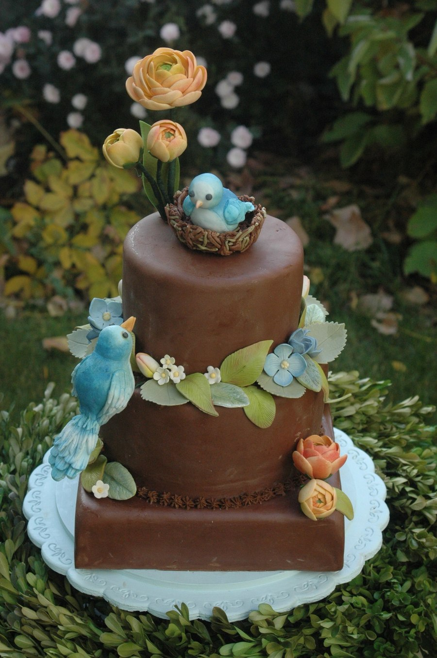 Blue Bird Baby Shower Cake Cakecentral Com