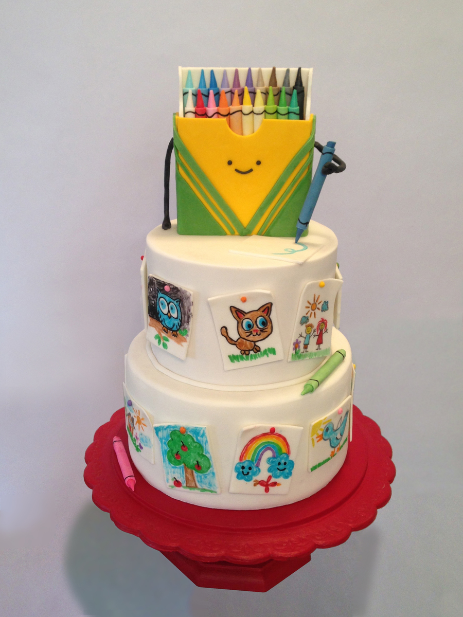 Crayon Box Doodle Cake Cakecentral Com