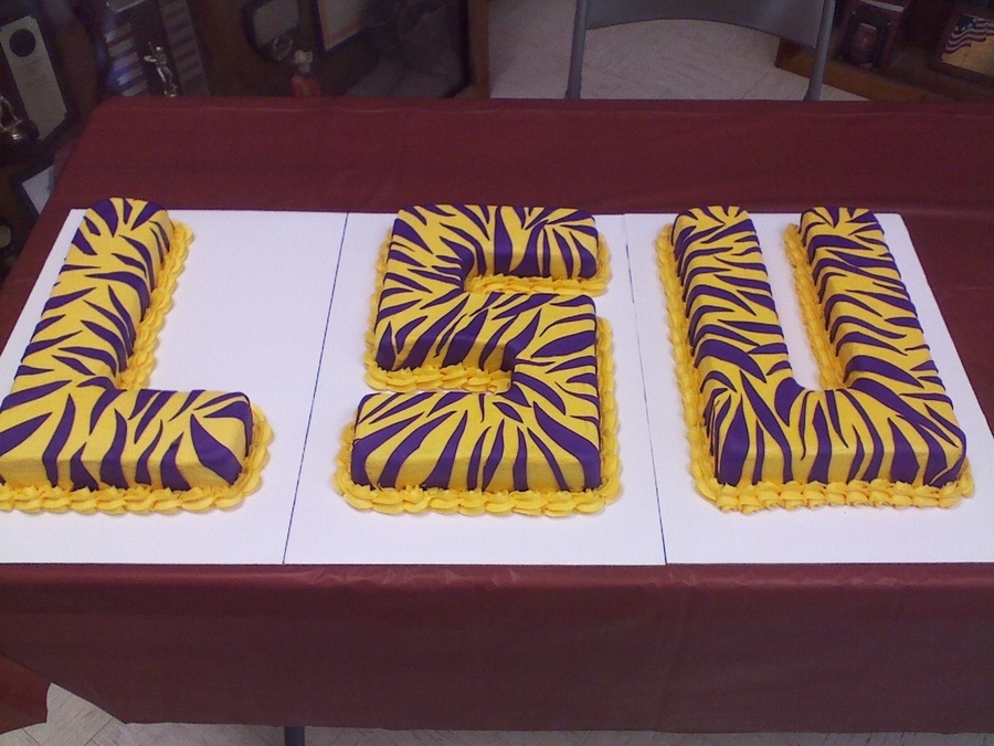 Lsu Grooms Cake on Cake Central