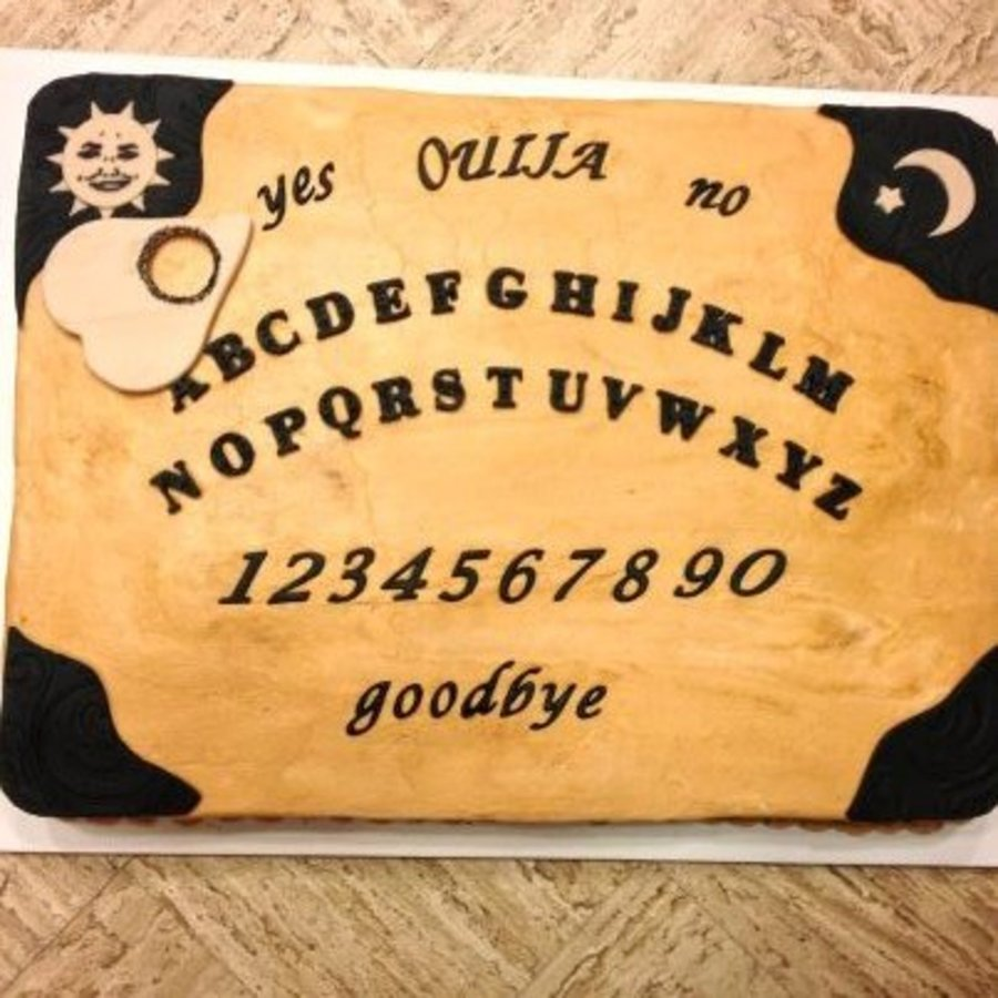Ouija Board Groom's Cake - Halloween Wedding on Cake Central