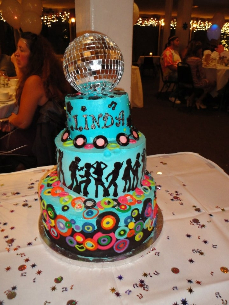 Disco Party Cake Ideas