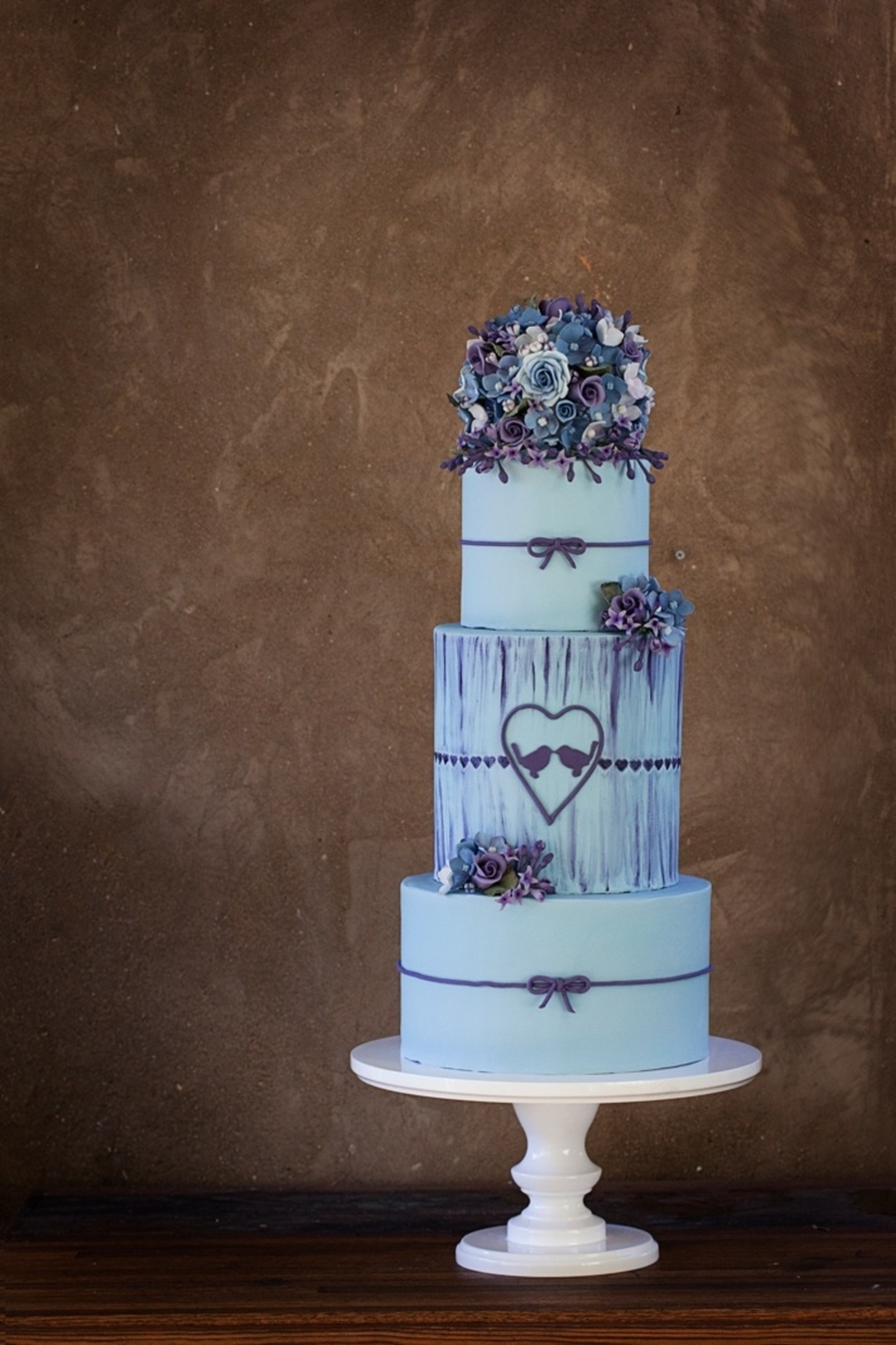I Was So Excited To Be Asked Submit A Wedding Cake For Centrals Purple And Blue Theme But Even More Finding Out It Made In