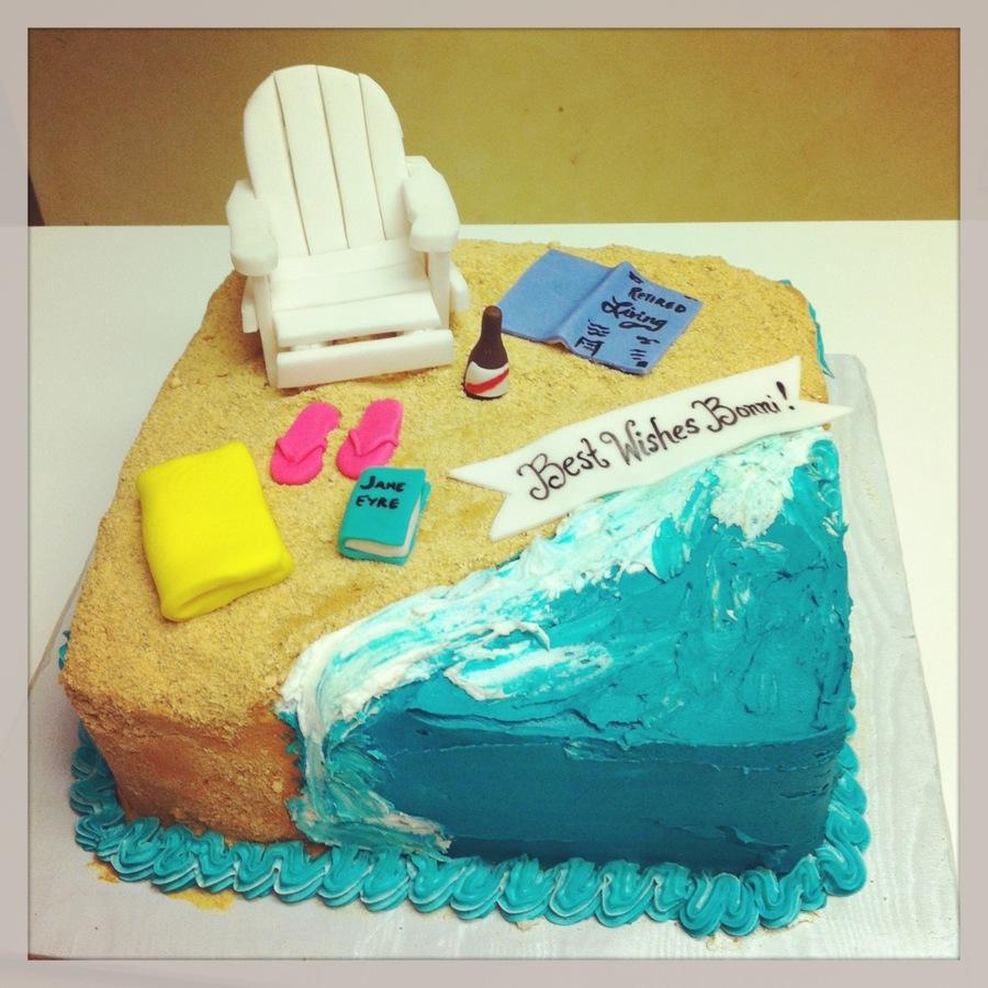 Beach Themed Retirement Cake - CakeCentral.com