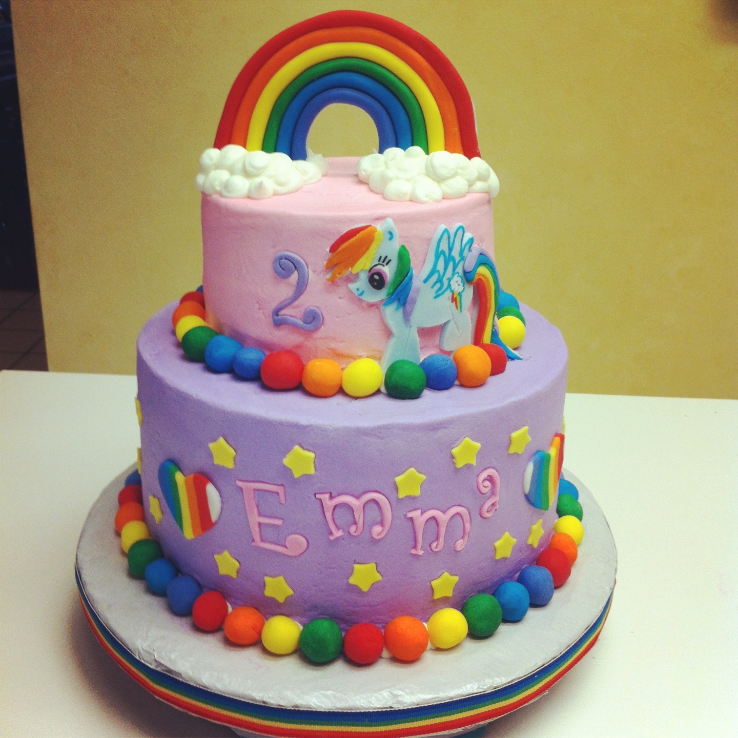 My Little Pony Cake With Matching Cupcakes CakeCentralcom