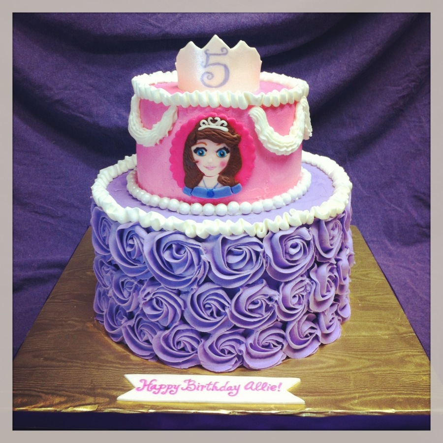 Cake Images Of Sofia The First : Sofia The First Birthday Cake - CakeCentral.com