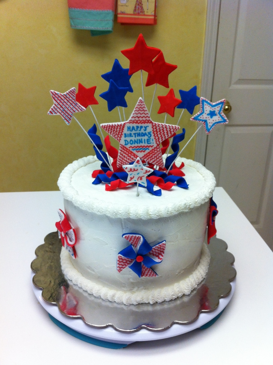 Fourth Of July Birthday Cake - CakeCentral.com