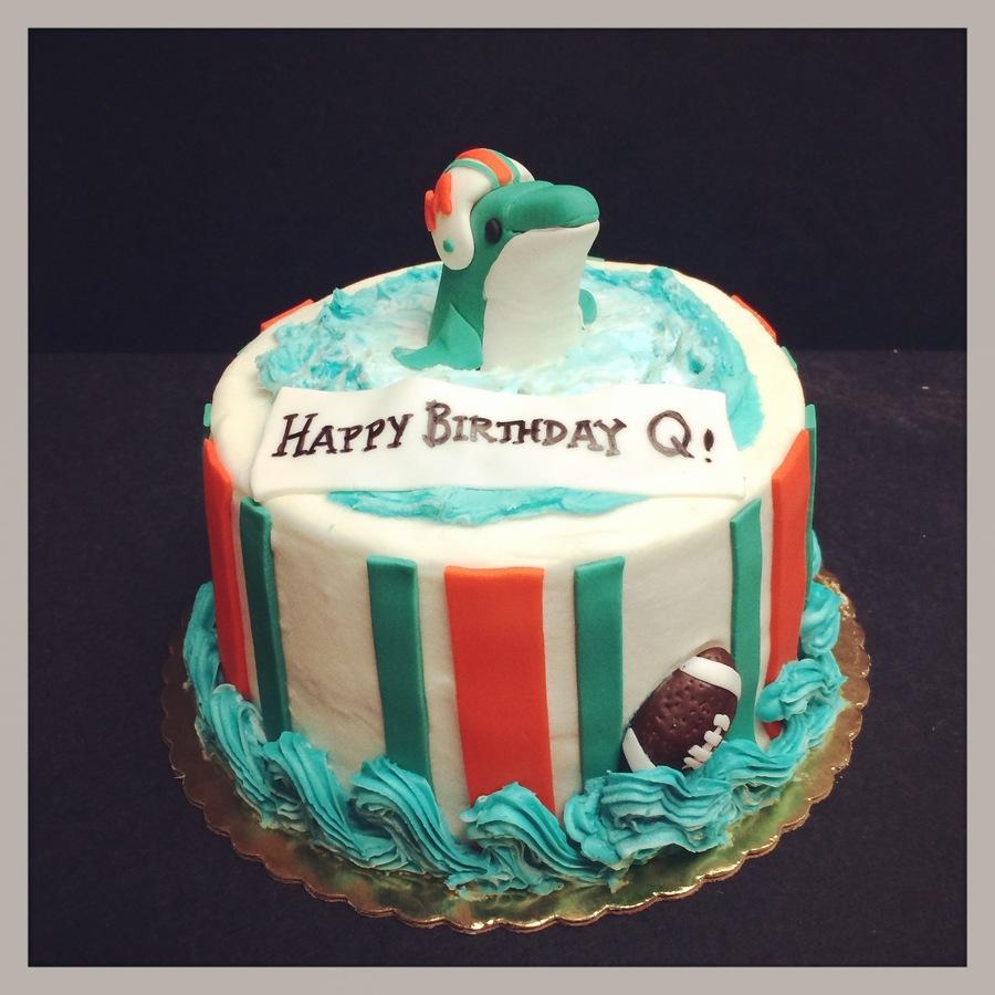 Astonishing Miami Dolphins Birthday Cake Cakecentral Com Personalised Birthday Cards Paralily Jamesorg