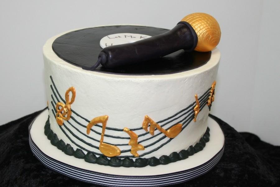 Male Music Birthday Cake