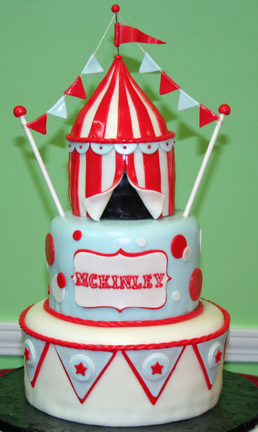 Circus Tent Cake on Cake Central & Circus Tent Cake - CakeCentral.com